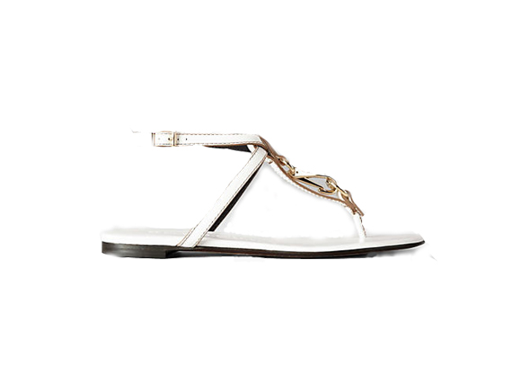 BURBERRY Buckle Detail Bridle Leather Sandals $ 395