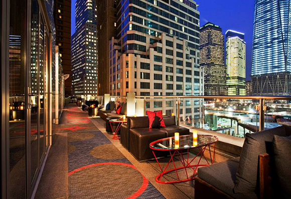 The Living Room Bar Terrace W Hotel Is Easily One Of Most Fabulous Places In New York City