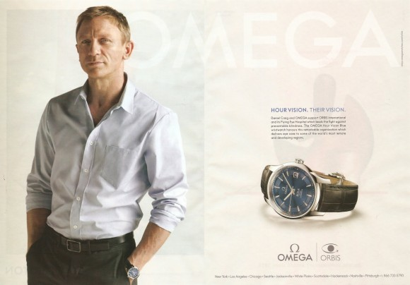 Conde Naste Traveler mag Omega Daniel Craig Orbis International pg02-03 05-2011