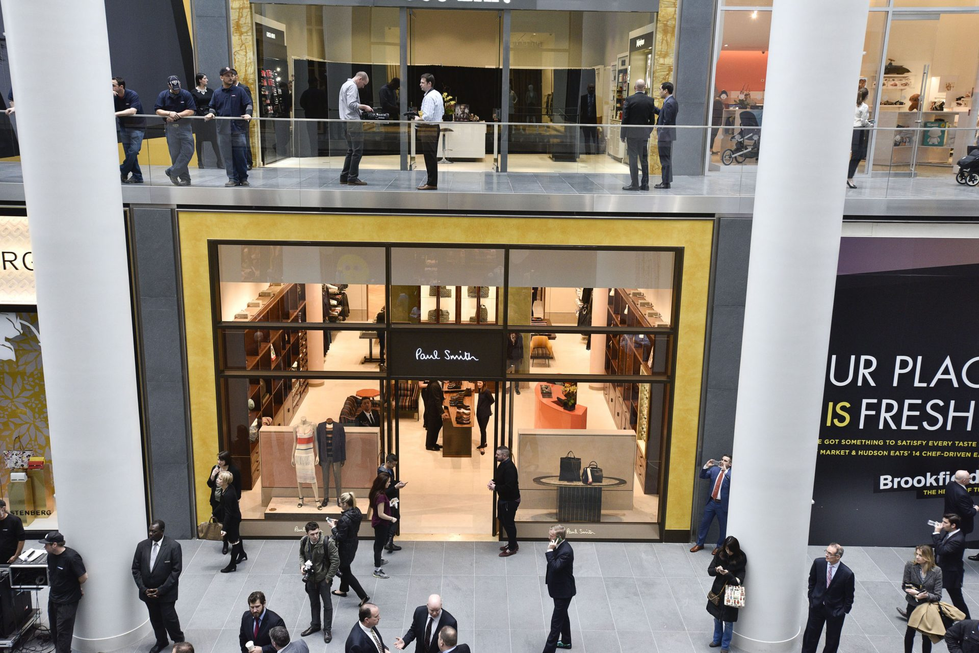 the opening of brookfield place introduces luxury boutiques and