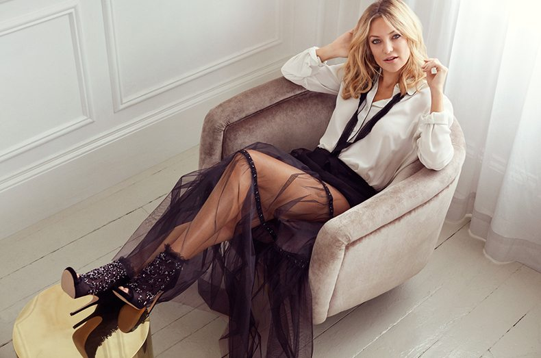Kate Hudson Enchants as her own stylist in the new Jimmy Choo Campaign