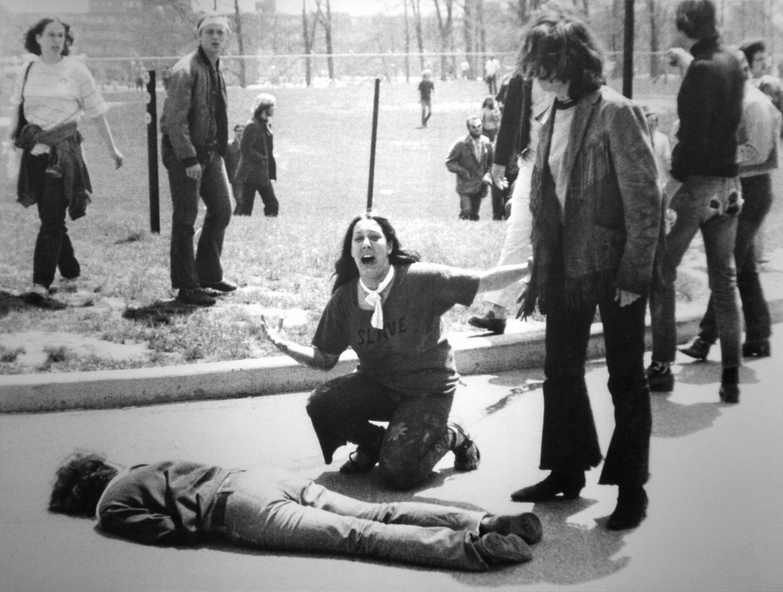 Kent University anti-war protesters, 1970