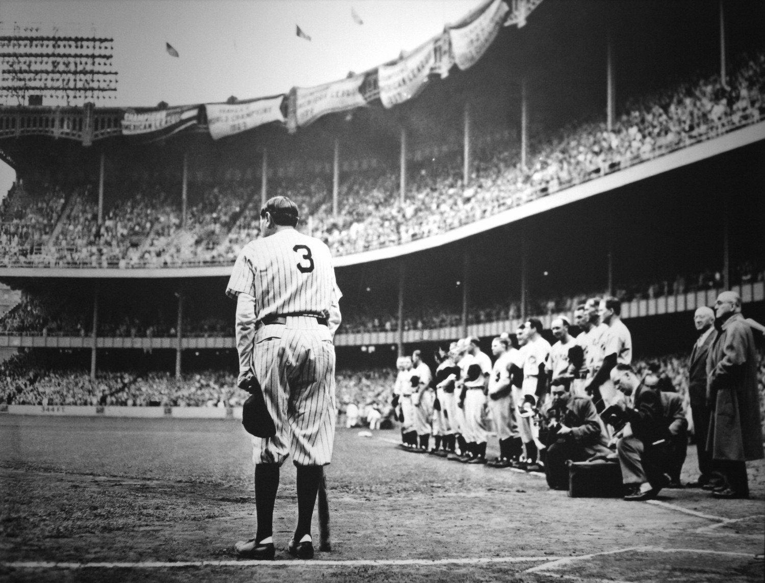 Babe Ruth's last game, 1948