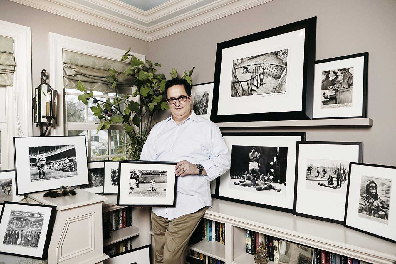 Alan L. Paris at his home in Westchester; photography by Theresa Hong