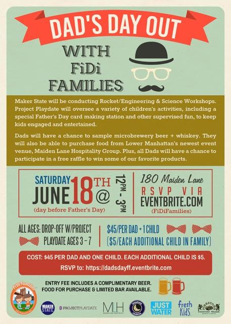 Dad's Day Out: A NYC Option For Father's Day On Jun. 18