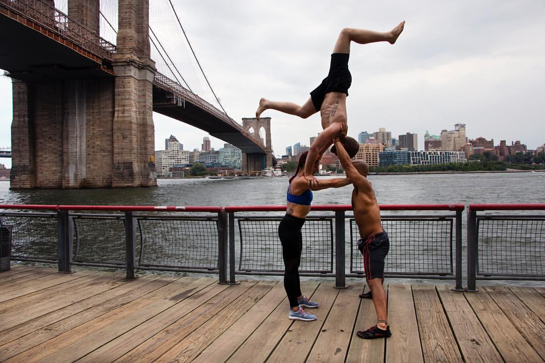 "Whether You're a ""Bird"" or a ""Base,"" Acro Yoga Has Room in its Community of Thousands in Lower Manhattan"