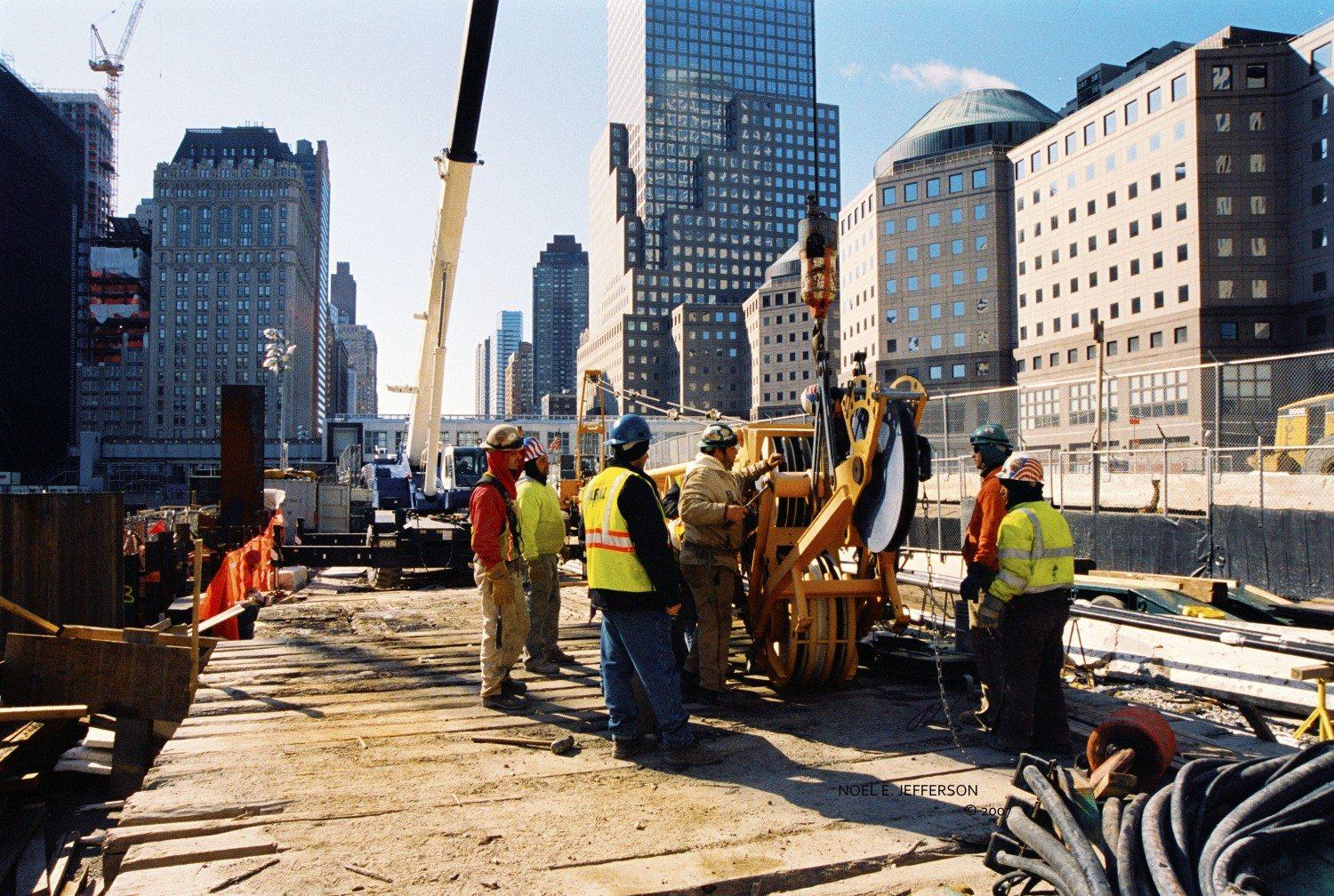 WTC Lower Manhattan Redevelopment site, 2008 / Photo by Noël Jefferson