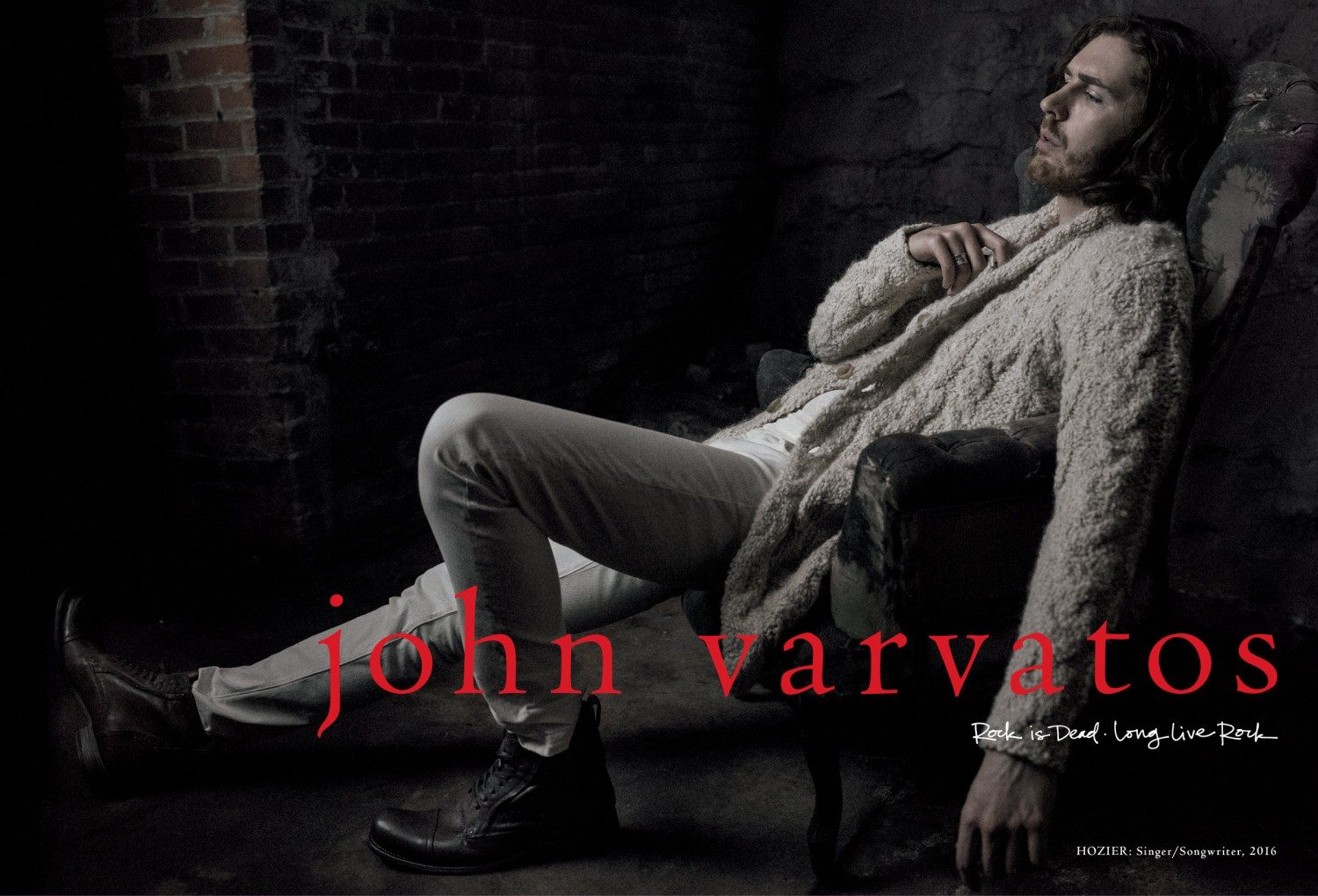 John Varvatos Announces Hozier As The Face Of Its Fall/Winter 2016 Advertising Campaign
