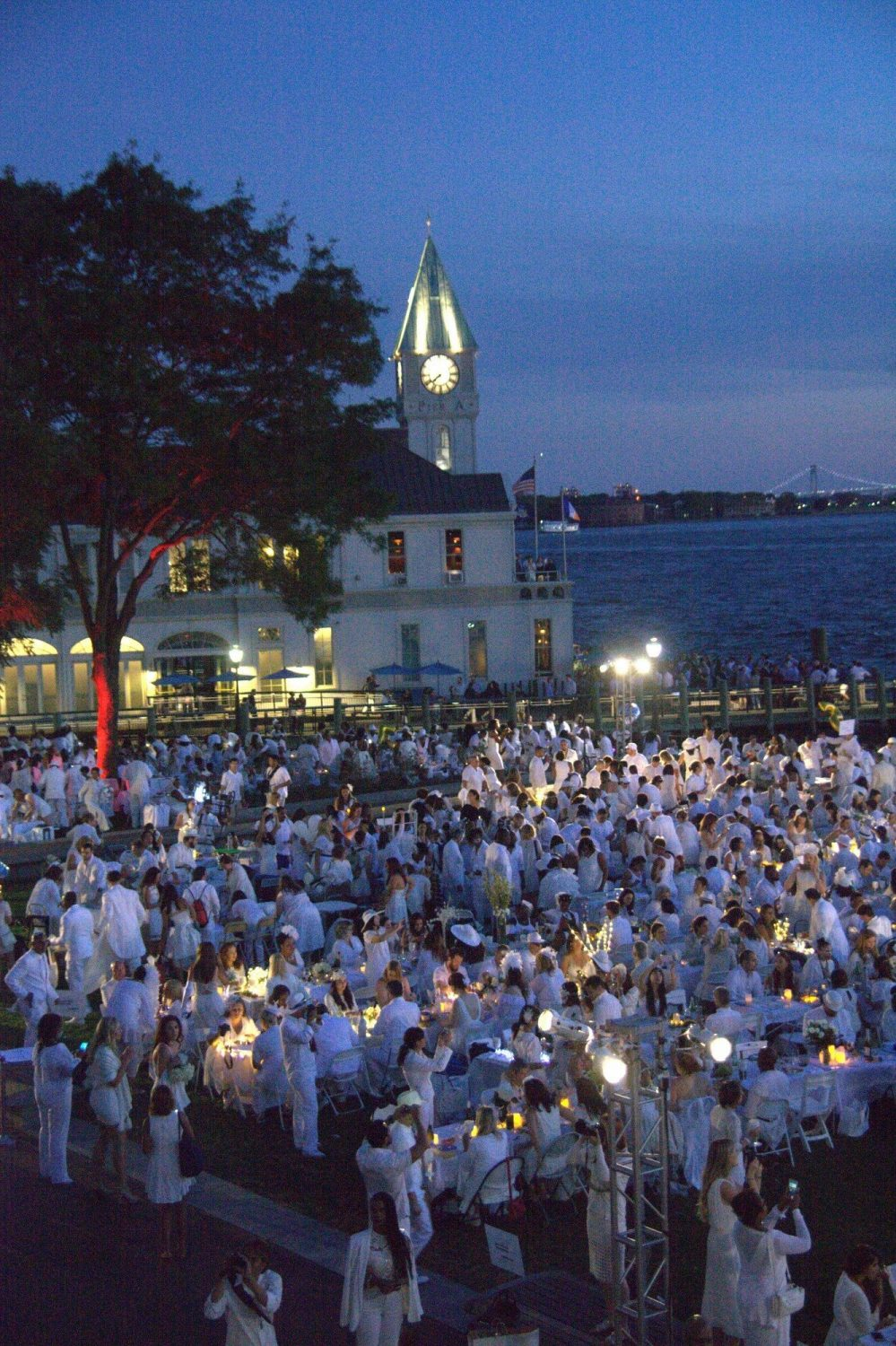 Chef Todd English, Battery Park City Authority's Shari C. Hyman & others on Le Dîner en Blanc's 2016 New York Event