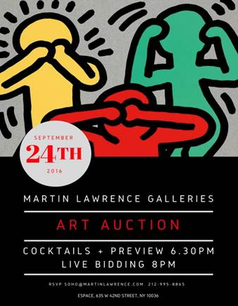 Martin Lawrence Galleries To Host A Fall Auction On Sept. 24