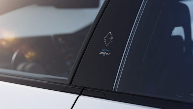 Faraday FF91 electric vehicle window