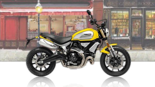 Ducati Scrambler 1100 Yellow Profile