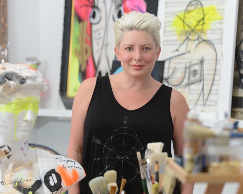 NYC artist Michelle Fazaeli
