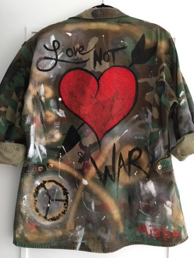 NYC Art Make Love Not War Jacket
