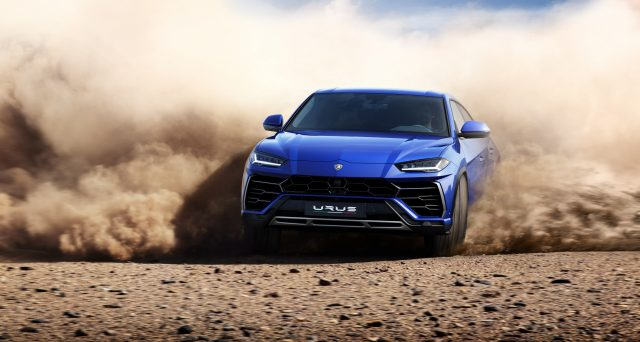 Lamborghini Urus Sliding Through Dirt