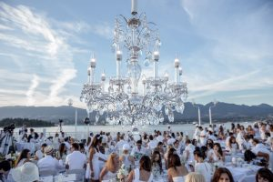 Diner en Blanc party in Vancouver British Columbia