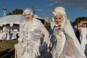 Diner en Blanc costumes in LV