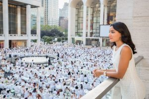 Diner en blanc party 2017 Lincoln Center