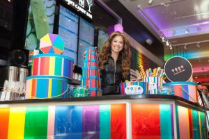 Reigning Queen of Candy Land in her NY Store