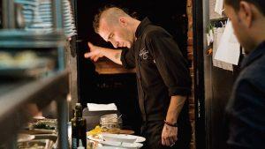 Diner en Blanc Chef Marc Forgione cooks