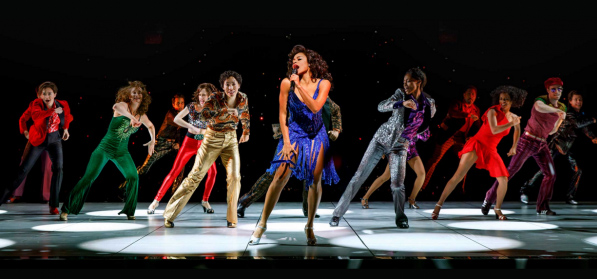 "Lachanze leads the talented cast in the musical telling of the story of the ""Queen of Disco."""