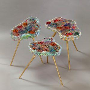 3 petites fleures tables