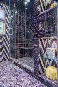 lavender marble mosaics
