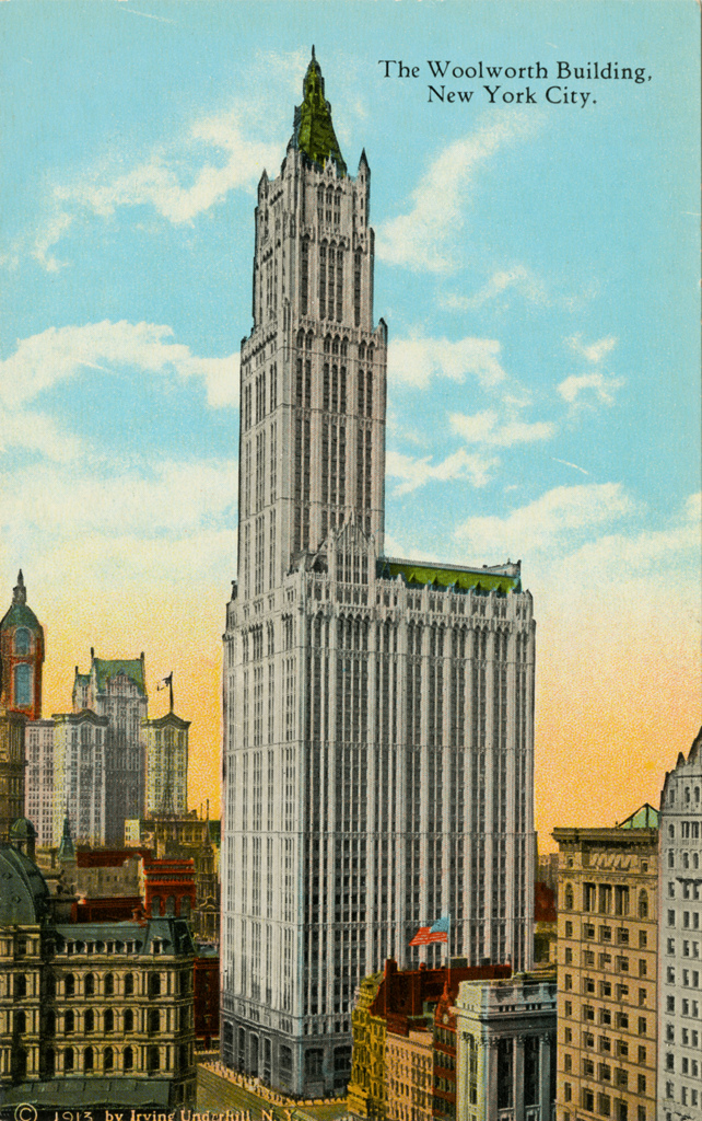 woolworth building postcard
