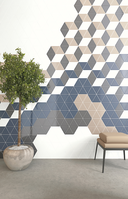 Attire tiles, customizable collection from Nemo Tile & Stone.