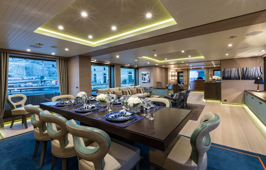 Superyacht and megayacht interiors by metrica.