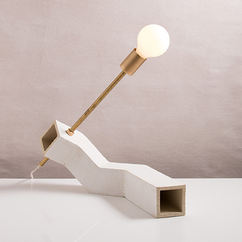 Conduit Incline Table Lamp by new york-based designer and company John Sheppard.