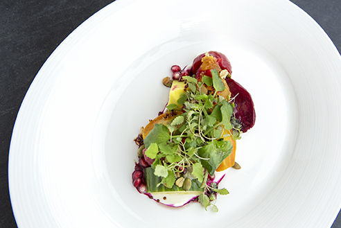 Organic local Beet Salad from 1919 Restaurant in San Juan, Puerto Rico.