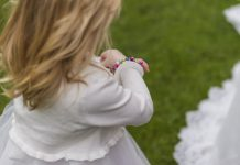 Little Girl in Flower Dress