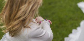 Little Girl in Flower Dress