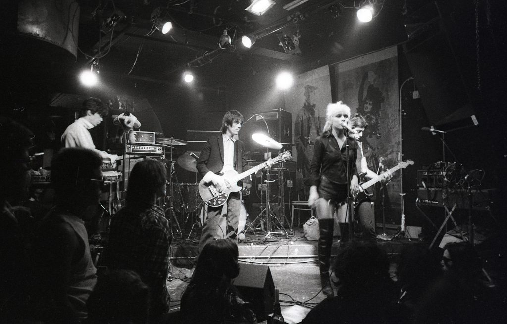 Blondie at CBGBs, photographed by David Godlis