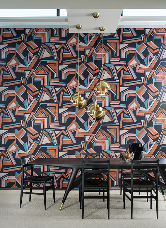 Expressionist from Arte International's Vanguard Collection of  art-inspired wallcoverings