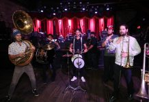 High and Mighty Brass Band kicks the night off at New York Public Radio Live