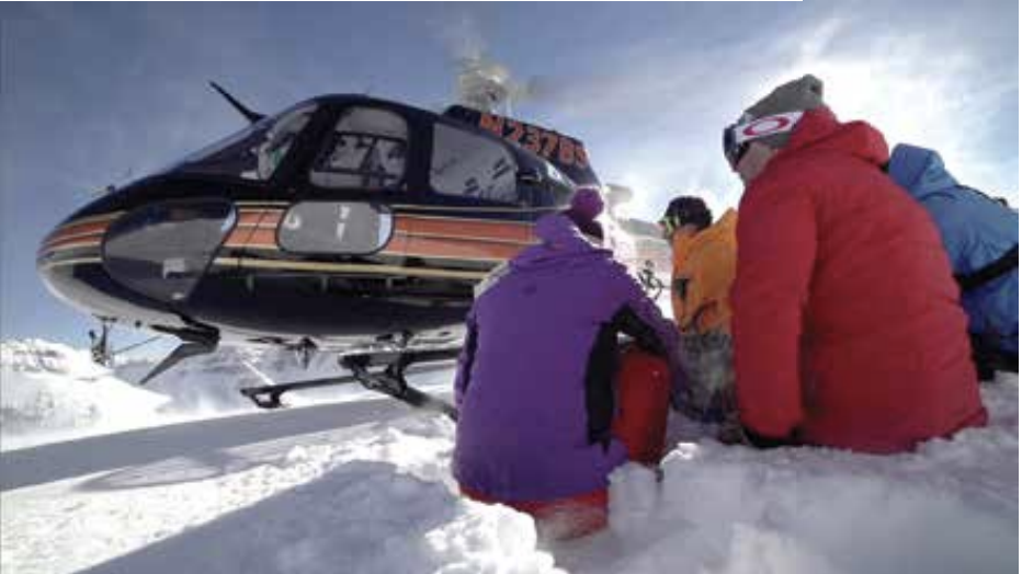 Preparing for a day of Heli-skiing