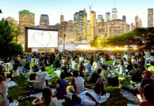 Movies with a View in Brooklyn Bridge Park.