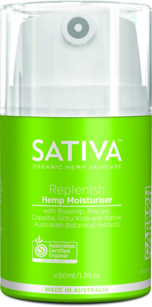 Hemp-based moisturizer Sativa, from Elixinol
