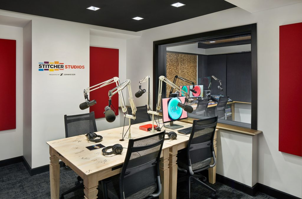One of Stitcher's recording studios.