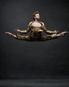 Daniil Simkin; Principal, American Ballet Theatre and Staatsballet Berlin; Vintage suite by Comme des Garcons.