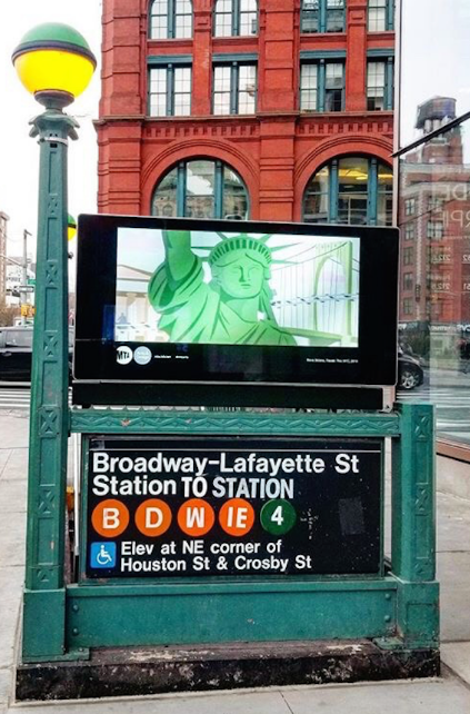 Bowie Tribute Appears At Broadway-Lafayette Station On The Anniversary of His Passing