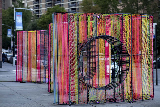 """Ziggy"""" Adds Colorful New Perspective To Water Street Plaza"""