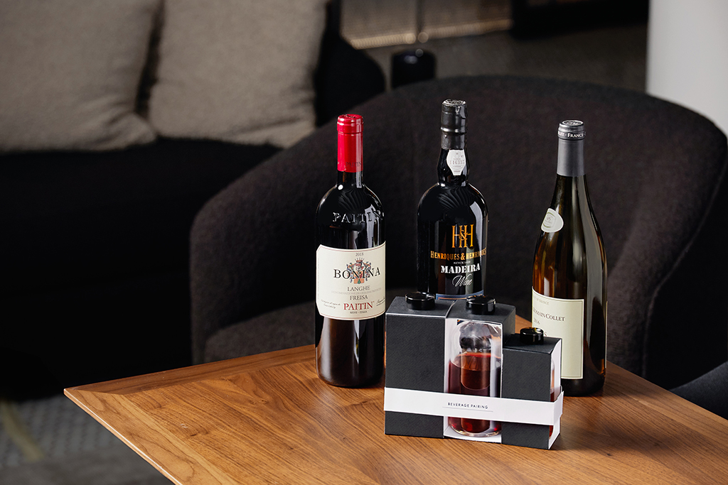 Wine pairing intersect by lexus